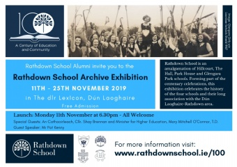 Roads to Rathdown School- Launching the Rathdown School Archive Exhibition Monday 11th November